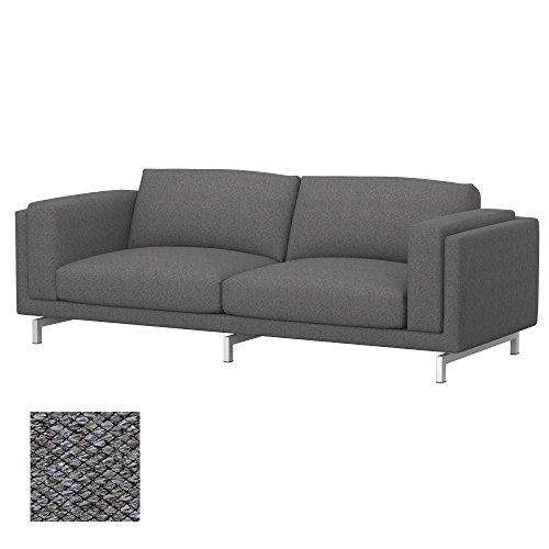 Soferia - IKEA NOCKEBY Funda para sofá de 3 plazas, Nordic Grey