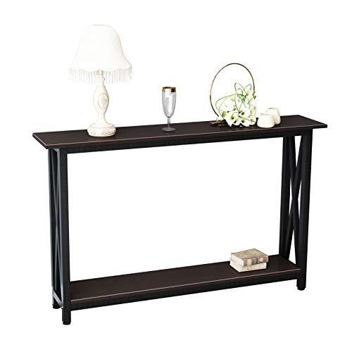 SogesPower DX-125 - Tavolo consolle per corridoio, con ripiano, per soggiorno, camera da letto, scrivania, in legno