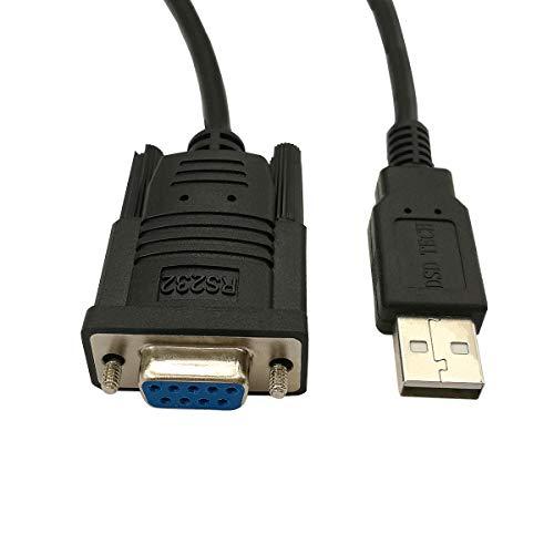 DSD TECH SH-RS232G USB zu seriellem DB9-Buchse Kabel Eingebauter FTDI FT232RL-Chip
