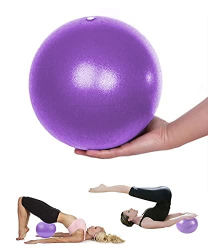 Mupack Gymnastikball Klein Pilates Ball - 25 cm Yoga Pilates Ball Kleine Übung Ball, Gymnastikball inkl Ballpumpe, Rutschfester&Superleichter Soft Pilates Ball, Fitness Ball für Yoga,Heim, Büro(Lila)