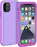 LOVE BEIDI iPhone 11 Pro Max Waterproof case 6.5'', Rugged iPhone 11 Pro Max Case with Screen Protector, Shockproof Full-Body Dustproof Case for iPhone 11 Pro Max 6.5'' (Purple/Pink)