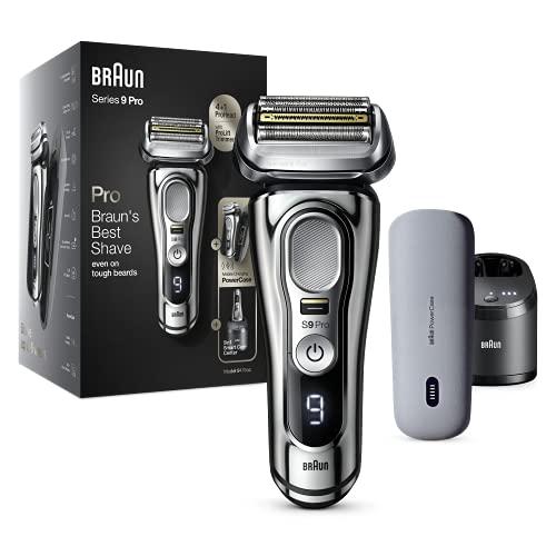 Braun Series 9 Pro 9476cc - Afeitadora eléctrica para hombre (cabezal de afeitado 4+1 con ProLift Trimmer, PowerCase, estación de limpieza 5 en 1, 60 minutos de autonomía, húmedo y seco)