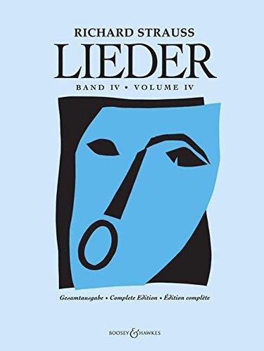 Lieder: Orchesterlieder. Band 4. Gesang und Orchester. Partitur.