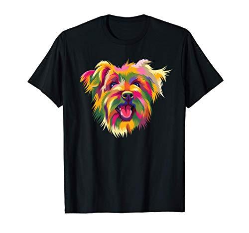 Yorkshire Terrier simpatico regalo per cani Yorkie Pop Art Maglietta