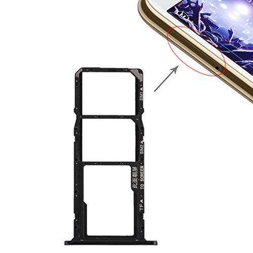 ZHANGLI Piezas del zócalo de la Tarjeta Bandeja de Tarjeta SIM + Bandeja de Tarjeta Micro SD para Huawei Y5 Prime (2018) / Honor Play 7 (Negro) Socket de Tarjeta (Color : Black)