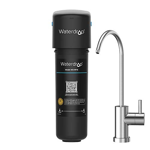 Waterdrop 10UB Under Sink Water Filter System, with Dedicated Faucet, 8K High Chlorine Reduction Capacity, USA Tech