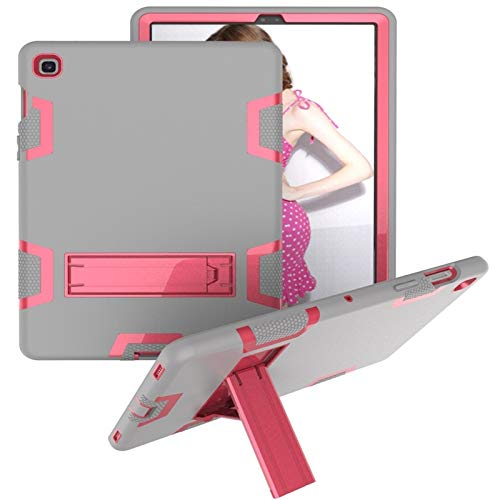 LISUONG MCDC AYDD para Samsung Galaxy Tab S5E T720 PC a Prueba de Golpes PC + Funda Protectora de Silicona, con Soporte (Color : Gray Rose)