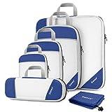Compression Packing Cubes Mesh Organizers L+M+S+XS+Slim+Laundry Bag Deep blue