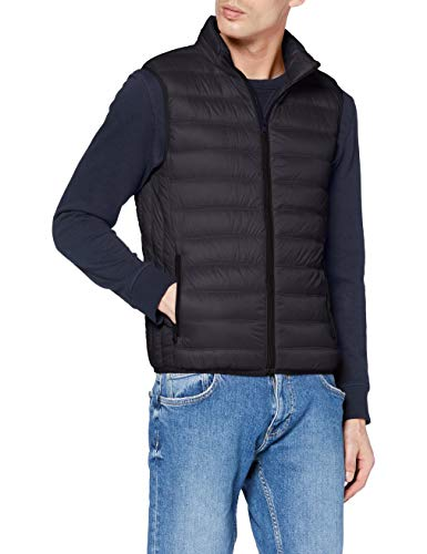 United Colors of Benetton Herren Gilet Bomberjacke, Schwarz (Nero 100), Large