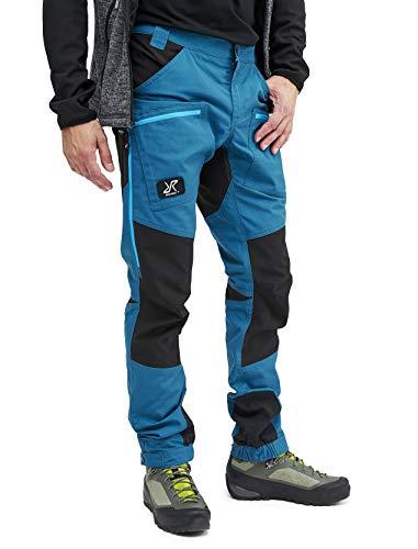 RevolutionRace Nordwand Pro Pants Herren Wasserabweisende, Atmungsaktive und Strapazierfähige Outdoorhose zum Wandern, Trekking, Camping, Klettern, Mountainbiken und Jagen, Petrol Blue, XS