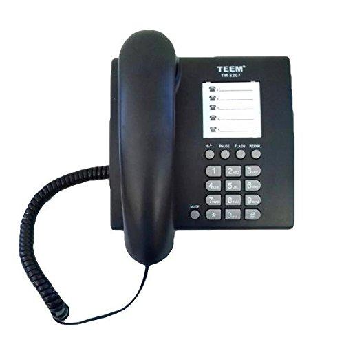 Telefone Fixo Padrão Comum Mesa Preto Escritório Casa