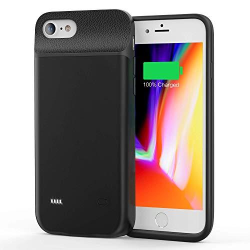 JCK Funda Bateria para iPhone 8 Plus / 7 Plus / 6s Plus / 6 Plus, 9200mAh Funda Cargador Portatil Ultra Capacidad Carcasa Batería Recargable Batería Externa para iPhone 7 Plus /6sP/6P/8P, 5.5', Negro