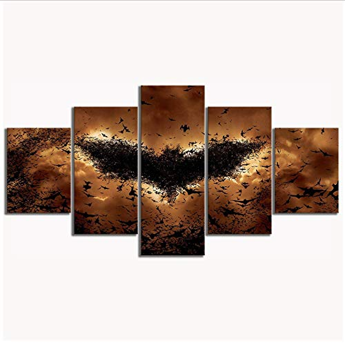 chthsx Leinwand Gemälde Gedruckt Dark Knight Batman Bat Symbol Videospiel Wand Artwork30x40 30x60 30x80cm Kein Rahmen