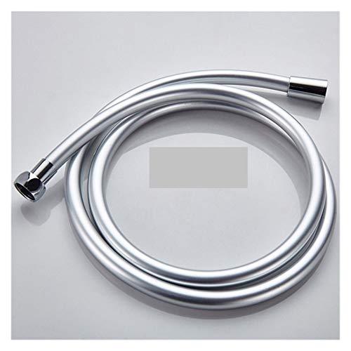 WENYOG Manguera De Ducha 1,5 m de Manguera de PVC Flexible de Ducha habitación Ducha Set de Accesorios Tubos 01 (Color : Silvery)