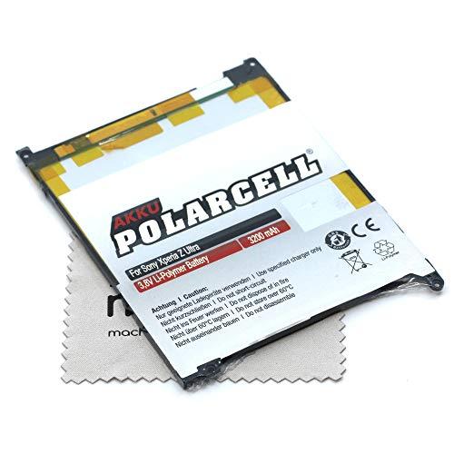 Batteria di ricambio per Sony Xperia Z Ultra (sostituisce la batteria originale LIS1520ERPC) Polarcell con panno per la pulizia dello schermo mungoo