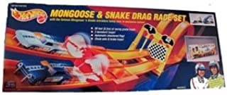 Hot Wheels 25th Anniversary SNAKE & MONGOOSE Drag Race Track Set 1:64 Scale Die Cast Cars (1993 Mattel)