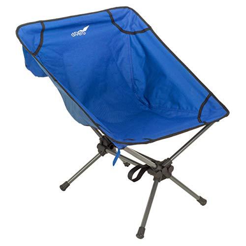 Divero Campingsessel Campingstuhl Moonchair Angelsitz Faltstuhl blau 58x56 cm aus Polyester Stahl für Balkon Terrasse Garten Schwimmbad klappbar