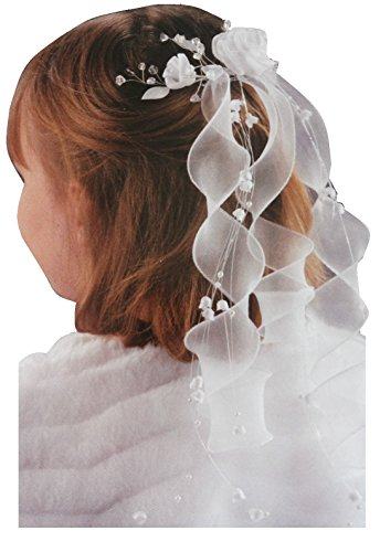 AJS Kommunion Haargesteck Haarkranz Weiß Kammgesteck