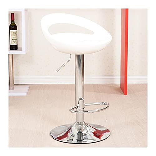 Sillas de barra de tablero simple de 2 piezas, silla de asiento de barra para el hogar de moda, silla de cocina ajustable, taburetes de bar, muebles para Pub de oficina en casa(Color:2PCS white)