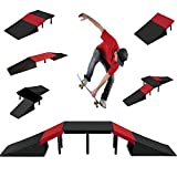 GEEZY 6 in 1 Skate Ramp Set For Scooter Skateboard Stunt Bike Inline Roller Skates BMX