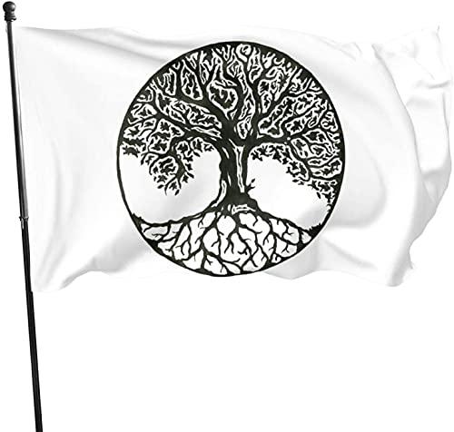 Celtic Tree of Life Flag for Outdoor Indoor Home House Decor Durable Garden Flag Custom
