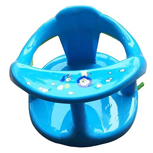 Nrpfell Seggiolino per Vasca da Bagno Seggiolino per Vasca da Bagno Tappetino per Sedia Sicurezza Antiscivolo Neonato Cura del Bambino Bambini Bagno per Doccia Sedile -Blu