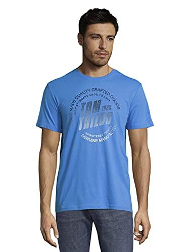 Tom Tailor 1026383 Logo Camiseta, Bright Ibiza Blue 26178-Juego de Mesa, S...