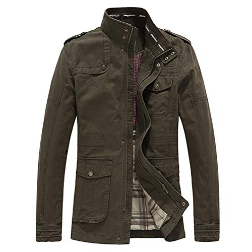 Willlly herenjack klassieke mantel chic jack casual katoen outdoorwear lange mouwen opstaande kraag vintage mode slim fit windjack trenchcoat vliegenjack