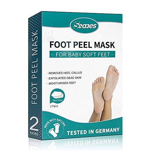Foot Peel Mask - Vitamins Exfoliating Feet Peeling Mask 2 Pack - Repair Heels & Removes Dry Dead Skin for Soft Baby Feet - Booties Socks For Men & Women