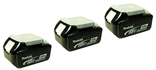 Makita BL 1850Replacement Battery Li-Ion 5.0Ah Pack of 3, [Importado de UK]