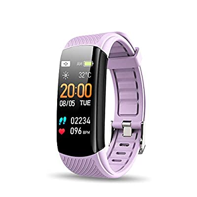 Walkercam, Fitness Tracker for Women, Heart Rate Monitor, Purple