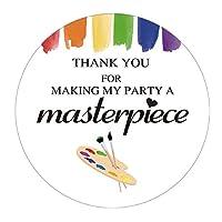 MAGJUCHE アートペイント Thank Youステッカー アートペインティング キッズ誕生日パーティー記念品ステッカーラベル 2インチ 40枚パック