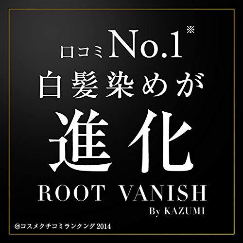 綺和美(KIWABI)RootVanish白髪染めダークブラウンヘアカラートリートメント女性用男性用100%天然成分無添加22種類の植物エキス配合
