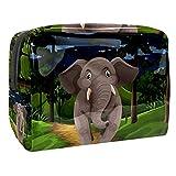 Kit de Maquillaje Bosque de Elefantes Neceser Makeup Bolso de Cosméticos Portable Organizador Maletín para Maquillaje Maleta de Makeup Profesional 18.5x7.5x13cm
