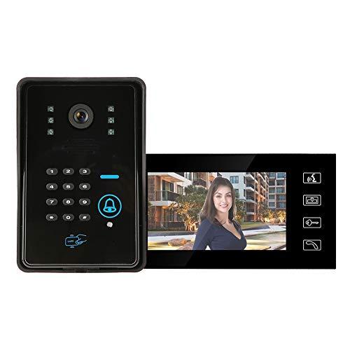 Timbre para videoportero Timbre De Intercomunicadores con Monitor 7in Portomo De Video...