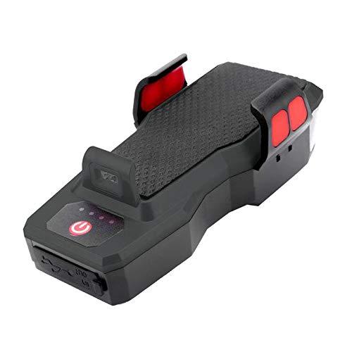 Nobranded Juego de Soportes Delanteros para teléfono 4 en 1 para Bicicleta, 3 Luces LED para Bicicleta, Faros Recargables USB para Bicicleta, luz Frontal - Negro
