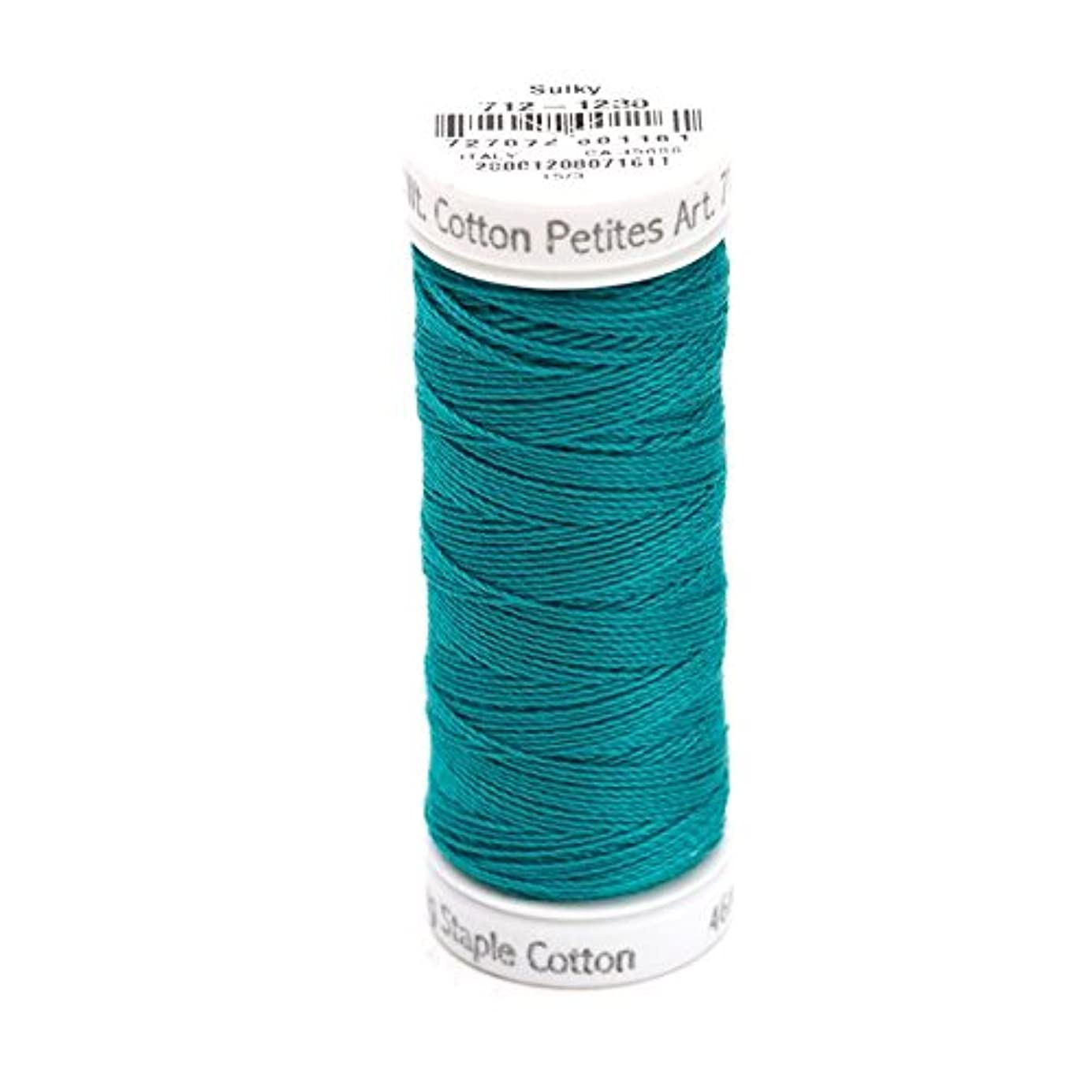 Sulky Of America 12wt 2-Ply Cotton Thread, 50 yd, Dark Teal wuuazc7375