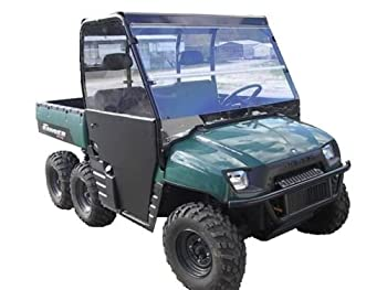 02-08 Polaris Ranger 800,700 Clear Folding Windshield.1/4 Thick Polycarbonate!