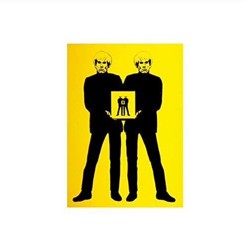 Suuyar Poster Moderne Andy Warhol Self Figure Bild Ölgemälde Gedruckt auf Leinwand Wandkunst Bilder für Wohnzimmer Wohnkultur-50x70 cm Kein Rahmen