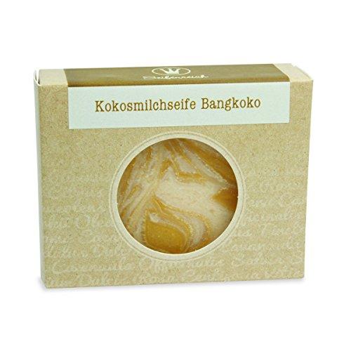 Seifenreich Zitronengras Kokosmilch Seife Bangkoko | Naturseife mit Lemongrass und Sheabutter | handgemachte Seife | Naturkosmetik | BIO zertifizierte Pflanzenöle | vegan | 100 g