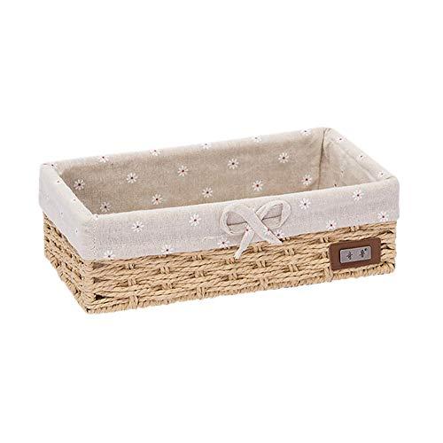 xuanxuajia aufbewahrungsbox für Kinder aufbewahrungskorb kleine Box zur Aufbewahrung Schreibtischaufbewahrung Kleiner Korb Aufbewahrungskörbe für Badezimmer Ivory