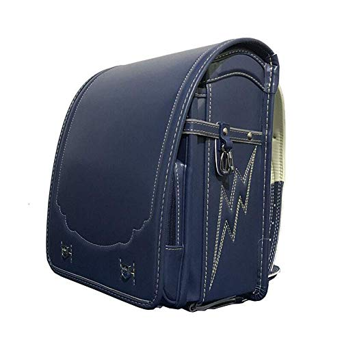 JDK Popular PU Leather School Bag for Girls Boys 1-6 Grade Elementary School Bag Cube Type A4 Flat File Support Automatic Lock Waterproof銉籐arge Capacity銉籐ightweight Burden Reduction Backpack