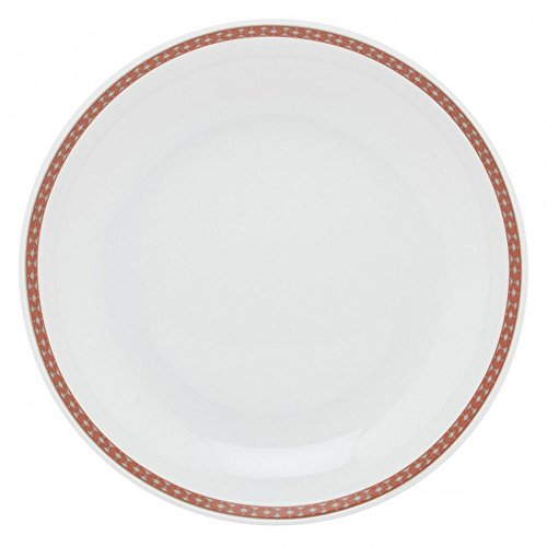 Guy Degrenne 206953 Romy Tomette Lot de 6 Assiettes Creuse Calotte Porcelaine Rouge 21 x 21,4 x 1,53 cm