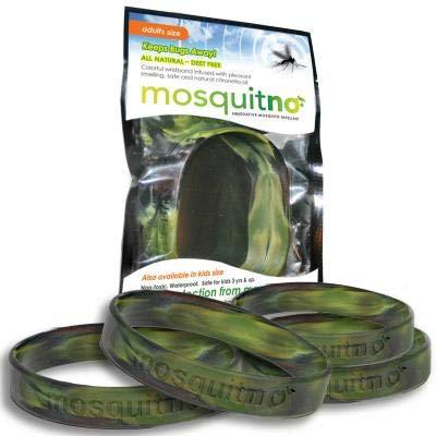 Mosquito Repellent Bracelets with Citronella, Deet Free, Waterproof 5-Pack Kids Camo