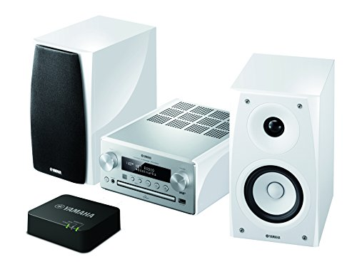 Yamaha MCR-N560DWA Kompaktanlage (CD-Player, USB, AirPlay, DAB/DAB+ Tuner) silber/piano weiß