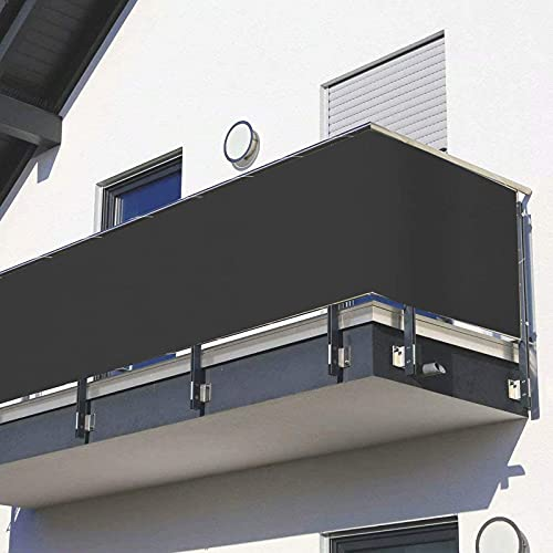 GGMWDSN Toldo Lateral Balcon, Pantalla para BalcóN ProteccióN de Privacidad InstalacióN RáPida para BalcóN Exterior de JardíN, Antracita, Varias TamañOs,65×400cm