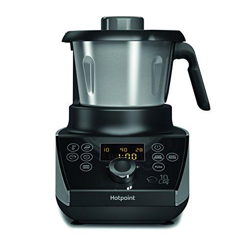 Hotpoint MC 057C AX0 Cooking Machine, 500 W, 1.5 Litri, Nero