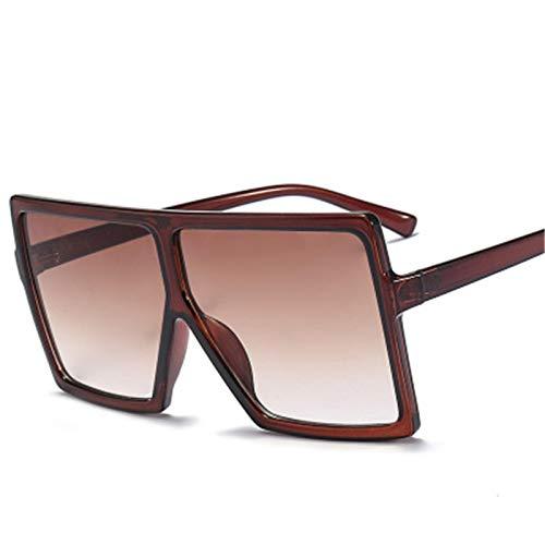 ShSnnwrl Único Gafas de Sol Sunglasses Gafas De Sol Cuadradas De Gran Tamaño para Mujer, Nuevo Y Moderno, De Lujo, con Parte Supe