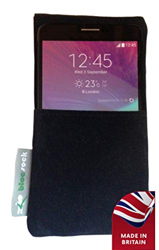 Cell Phone Anti Radiation Pouch. EMF Protection (Large Smart Phones up to 6.25 inches high and 3 inches Wide) Black