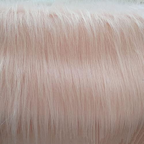 Rosado Tejidos De Pelo Sintético Shaggy Long Pile 160 × 100cm para Manualidades Bricolaje Costura Disfraz Traje Piel Enano Cámara, Suelo, Decoración, Telón De Fondo(Size:7m)